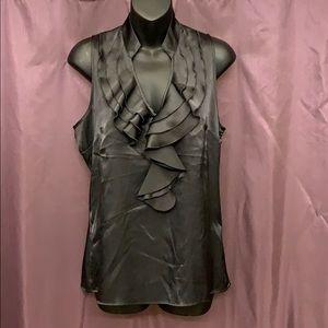 New York & Co. Sleeveless Black Blouse